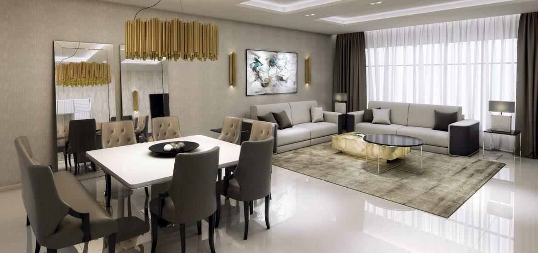 Gm proyecto living comedor interiorismo y muebles de lujo for Casa con cocina y comedor juntos